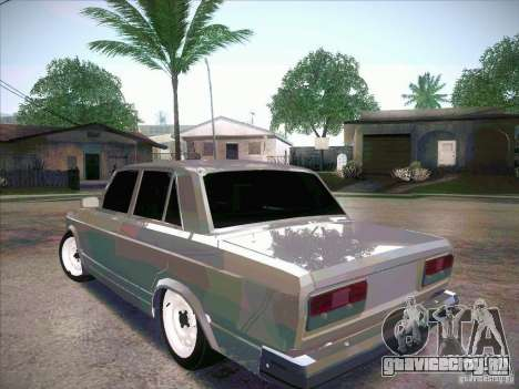 ВАЗ 2107 Criminal для GTA San Andreas вид слева