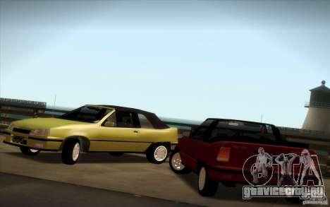 Chevrolet Kadett GSI Cabrio для GTA San Andreas вид справа
