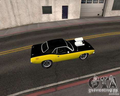 Plymouth Hemi Cuda 440 для GTA San Andreas вид справа