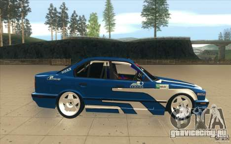 BMW E34 V8 для GTA San Andreas вид изнутри