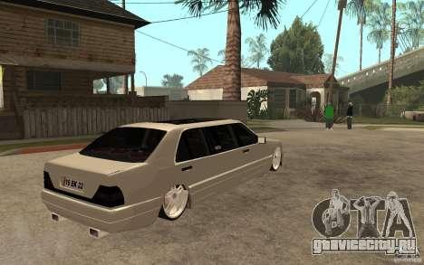 Mercedes-Benz S600 V12 W140 1998 VIP для GTA San Andreas вид справа