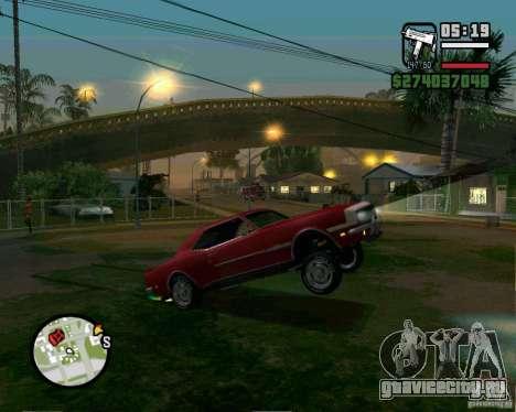 Возможность поднять машину на дыбы для GTA San Andreas четвёртый скриншот