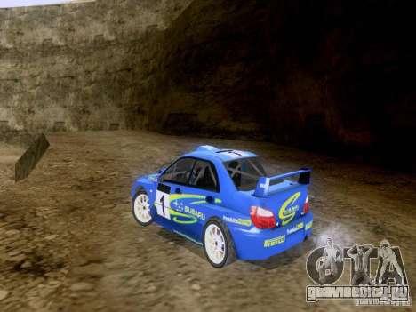 Subaru Impreza WRC 2003 для GTA San Andreas вид сзади слева