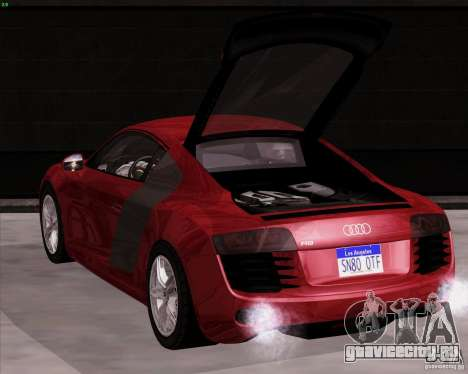 Audi R8 Production для GTA San Andreas вид сзади слева