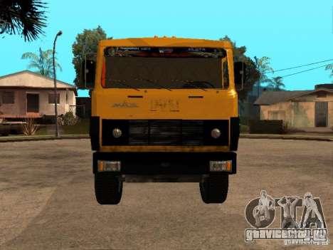МАЗ 54323 МУСОРОВОЗ для GTA San Andreas вид сзади слева