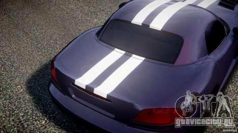 Dodge Viper RT 10 Need for Speed:Shift Tuning для GTA 4 вид сзади