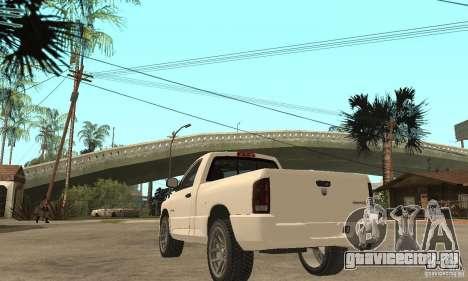 Dodge Ram SRT 10 для GTA San Andreas вид сзади слева