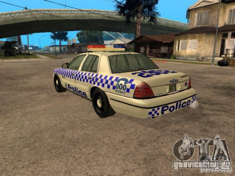Ford Crown Victoria NSW Police для GTA San Andreas вид слева