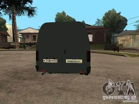 ГАЗель 2705 Бизнес для GTA San Andreas вид сзади