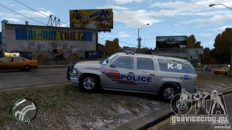 Chevrolet Suburban 2006 Police K9 UNIT для GTA 4 вид слева