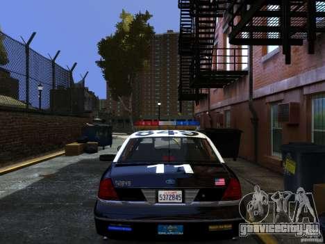 Ford Crown Victoria LAPD v1.1 [ELS] для GTA 4 вид слева