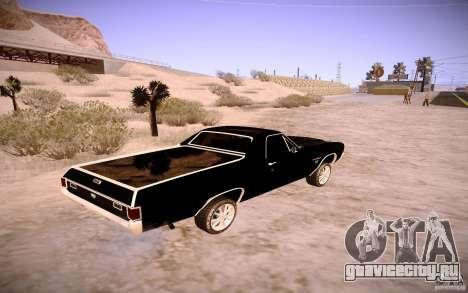 Chevrolet El Camino SS 1970 для GTA San Andreas вид сбоку