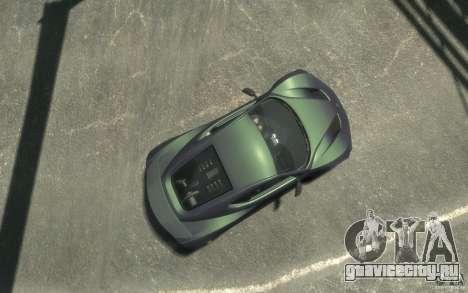 Zenvo ST1 2010 v2.0 для GTA 4 вид справа