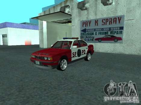 BMW 535i E34 Police для GTA San Andreas