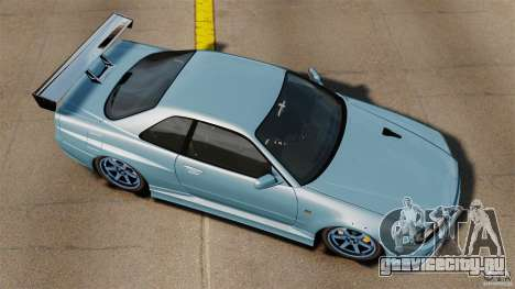 Nissan Skyline GT-R (BNR34) 2002 для GTA 4 вид справа
