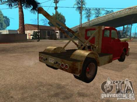 Dodge тягач ржавый для GTA San Andreas вид сзади