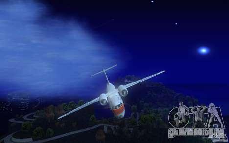Antonov 74 для GTA San Andreas вид изнутри