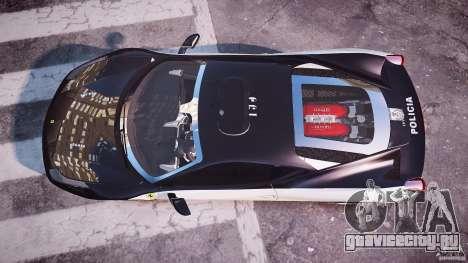 Ferrari 458 Italia - Brazilian Police [ELS] для GTA 4 вид справа