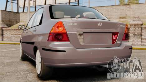 Suzuki Liana GLX 2002 для GTA 4 вид сзади слева