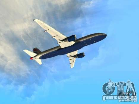 Airbus A320 British Airways для GTA San Andreas вид изнутри