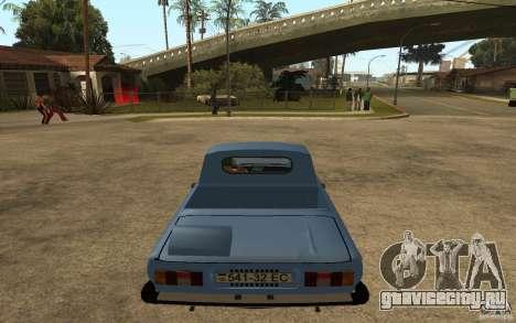 ЗАЗ 968 МП для GTA San Andreas вид сзади слева