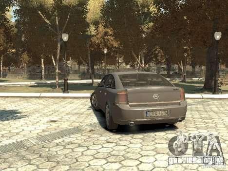 Opel Vectra для GTA 4 вид сзади слева