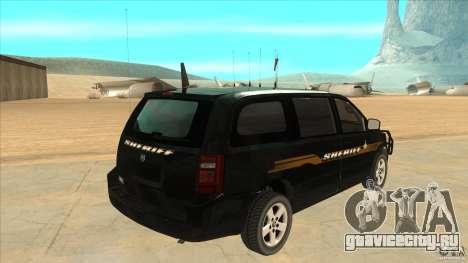 Dodge Caravan Sheriff 2008 для GTA San Andreas вид справа