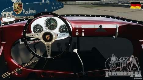 Porsche 550 A Spyder 1956 v1.0 для GTA 4 вид сзади