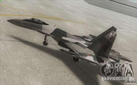Су-35 БМ v2.0 для GTA San Andreas вид сверху