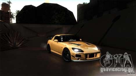 Honda S2000 JDM для GTA San Andreas вид изнутри