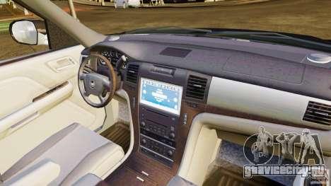 Cadillac Escalade 2007 v3.0 для GTA 4 вид изнутри