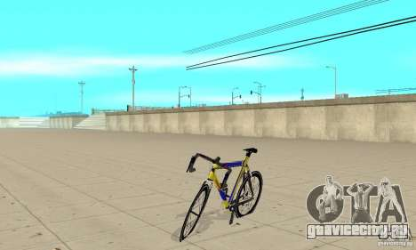 Racing Cycle Turmac Legnano для GTA San Andreas вид слева