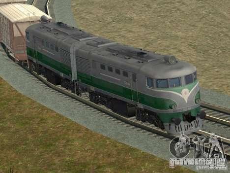 ТЭ2-414 для GTA San Andreas вид сбоку