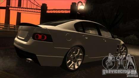 Holden HSV W427 для GTA San Andreas вид сбоку