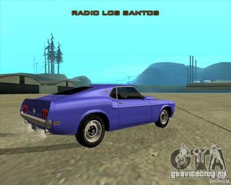 Ford Mustang Boss 429 1969 для GTA San Andreas вид сзади