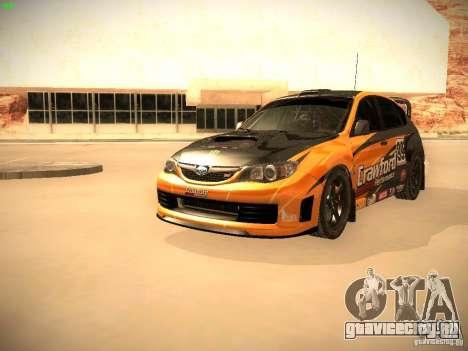 Subaru Impreza Gymkhana для GTA San Andreas вид снизу