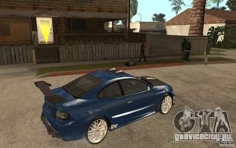 Vauxhall Monaro для GTA San Andreas вид справа