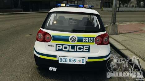 Volkswagen Golf 5 GTI South African Police [ELS] для GTA 4 салон