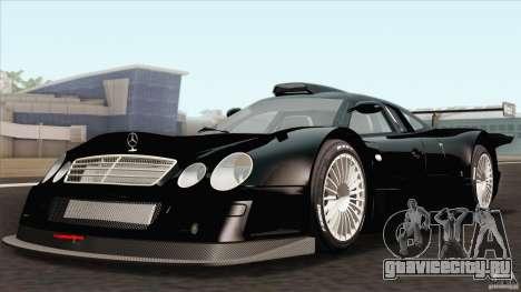 Mercedes-Benz CLK GTR Race Car для GTA San Andreas вид сзади