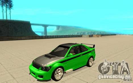GTA IV Sultan RS FINAL для GTA San Andreas вид сверху