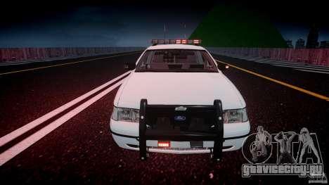Ford Crown Victoria v2 NYPD [ELS] для GTA 4 вид снизу