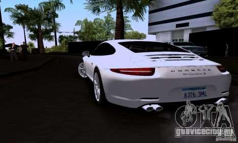 Porsche 911 Carrera S для GTA San Andreas вид слева