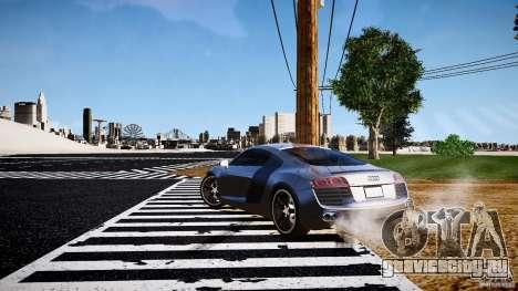 Audi R8 2008 для GTA 4 вид справа