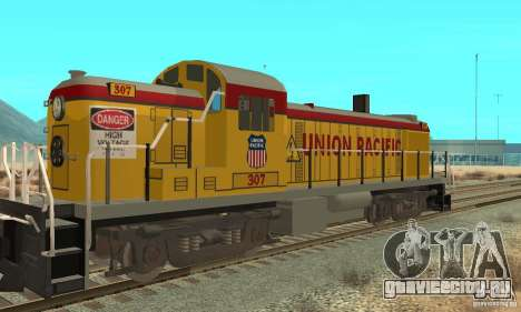 Тепловоз RS3 Union Pacific для GTA San Andreas вид сзади слева