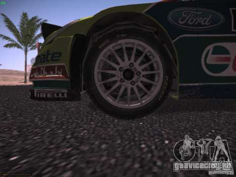 Ford Focus RS WRC 2010 для GTA San Andreas двигатель