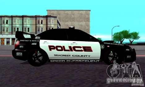 Subaru Impreza WRX STI Police Speed Enforcement для GTA San Andreas вид справа