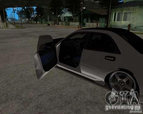 Subaru Impreza (exclusive) для GTA San Andreas вид сзади слева
