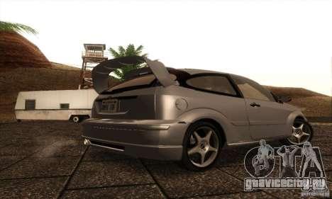 Ford Focus SVT TUNEABLE для GTA San Andreas вид справа
