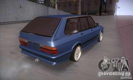 BMW E28 Touring для GTA San Andreas вид сзади