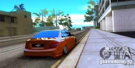 Mercedes-Benz C63 для GTA San Andreas вид справа